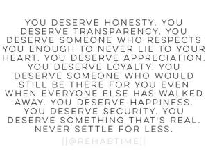 You Deserve...