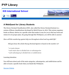 Using webquests to teach research skills and media literacy