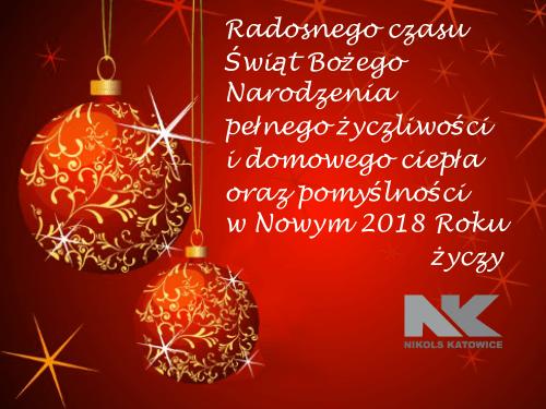 Życzenia świąteczne Nikols-Katowice