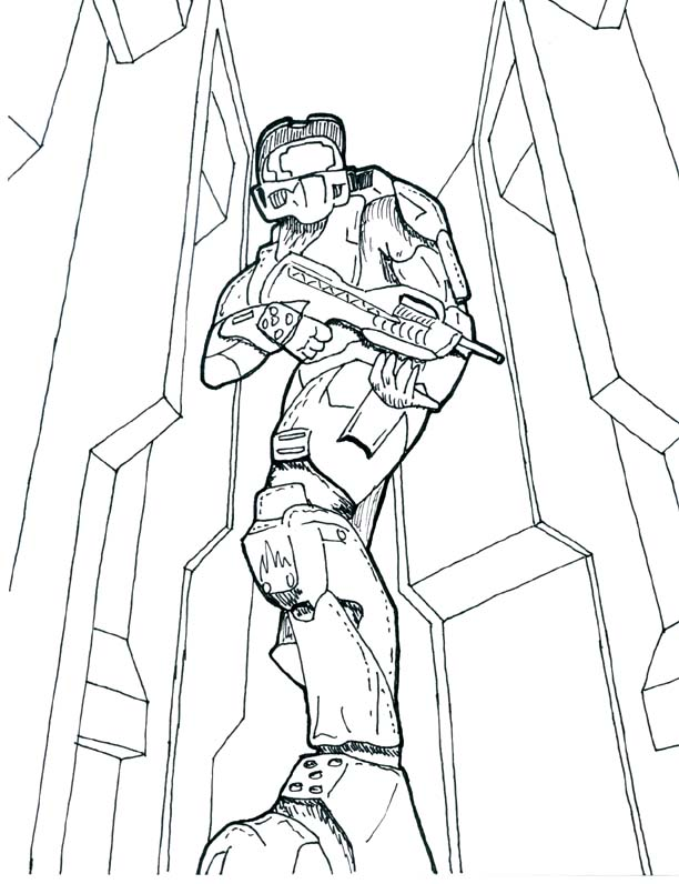 Halo Grunt At Coloring Pages Book For Kids Boys Re