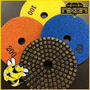 "4"" Stinger Metal DOT pads for grinding concrete"