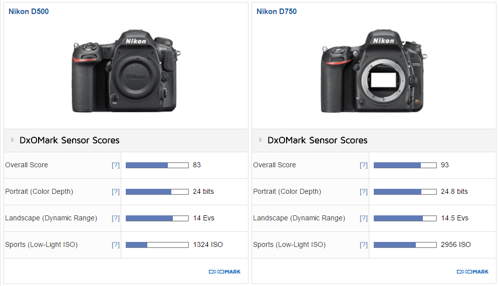 D7200 Outscores D500 in DxOMark test
