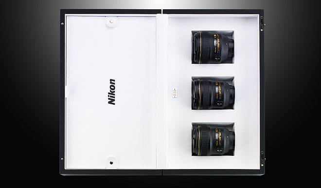 Nikon limited edition f/1.4 lens set