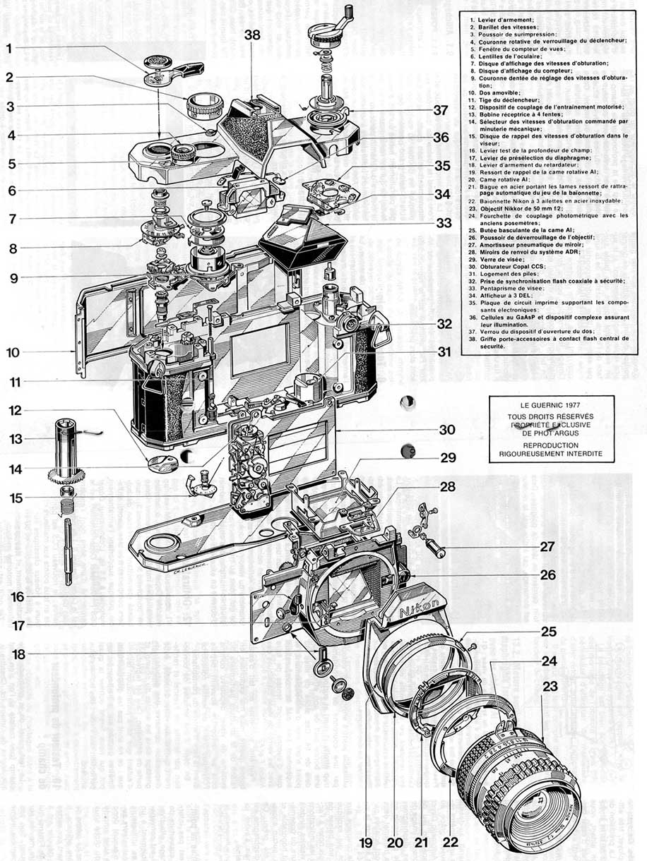 Enjoy the mechanical schematics of those old Nikon F film
