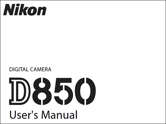Comment on Nikon D850 user's manual now available for