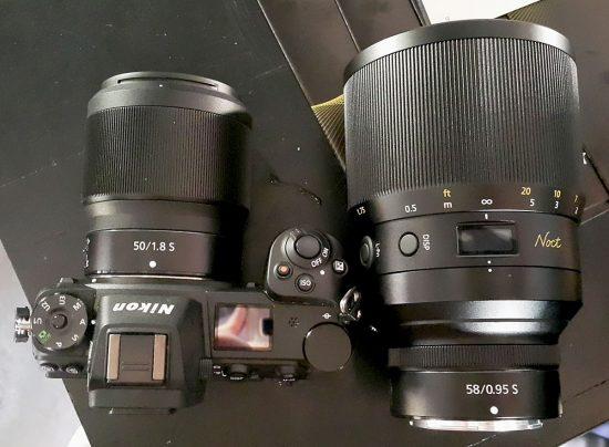 Nikon Z 50mm f/1.8 S vs. Z Noct Nikkor 58mm f/0.95 lens size comparison - Nikon Rumors