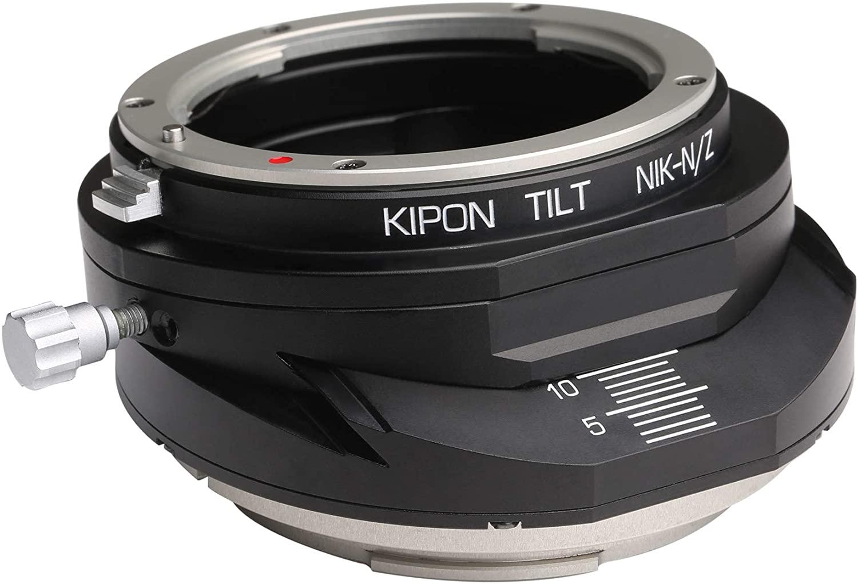 Adattatore di inclinazione Kipon per obiettivo con attacco F Nikon per fotocamera mirrorless Nikon Z.