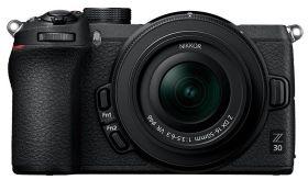 Mockup di fotocamera mirrorless Nikon Z30 APS-C