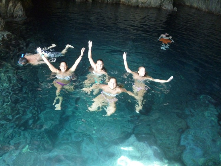 Swimming in the Sea Cave at Troulakas<br>
