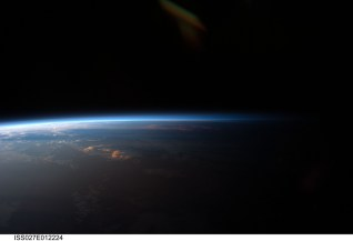 Sunset Over Western South America