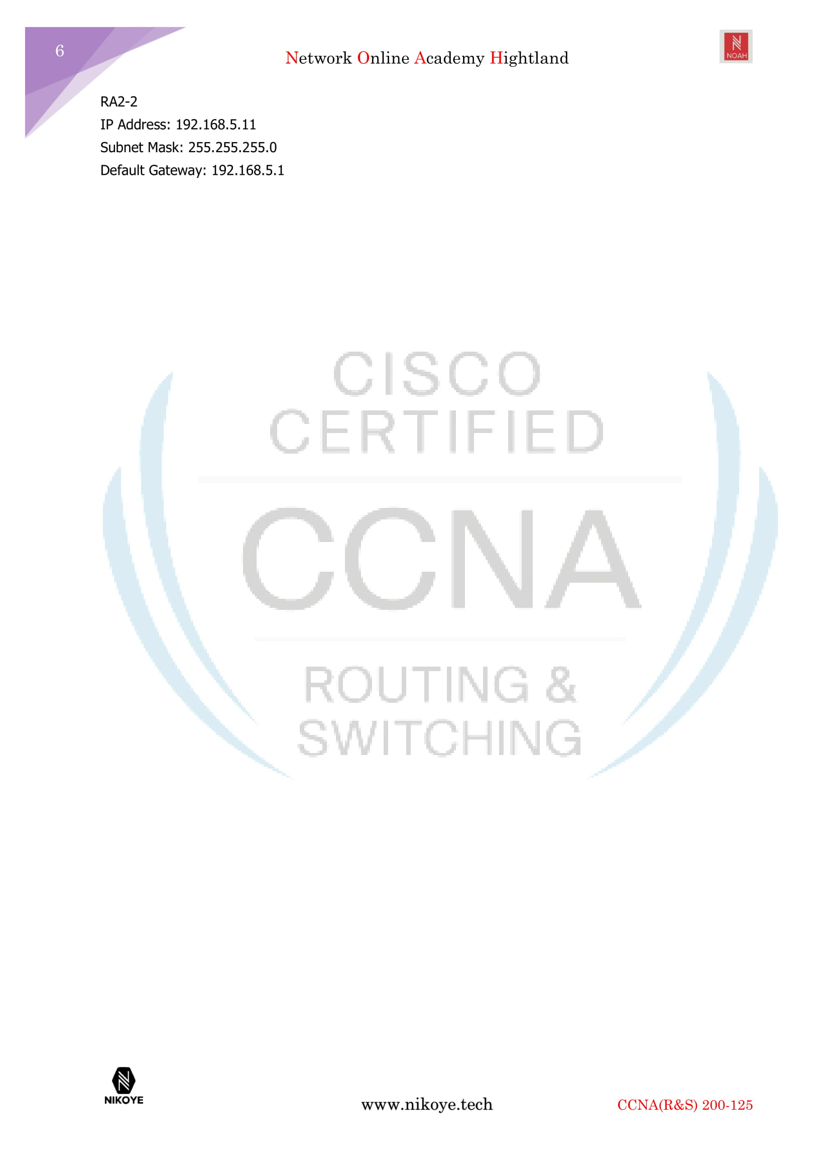 CCNA 200-125 v3Routing and Switching Introduction to