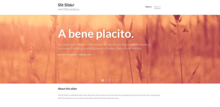Slit Slider Rivisitato | Codrops