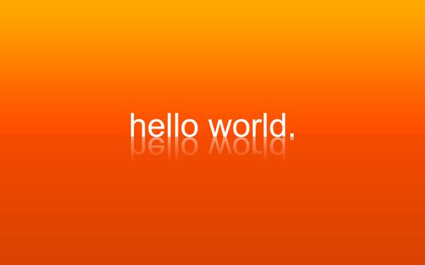 Ciao mondo!!