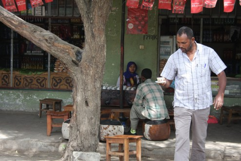 Roadside express coffee. Did you know coffee was first cultivated in Ethiopia?