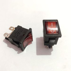 ON/OFF Rocker Switch with Bulb 230V AC