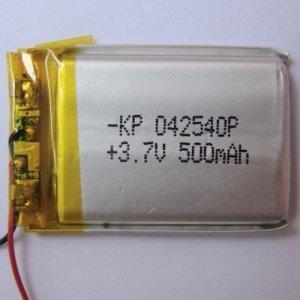 3.7V 500mAh Li-Polymer Battery (Lipo)