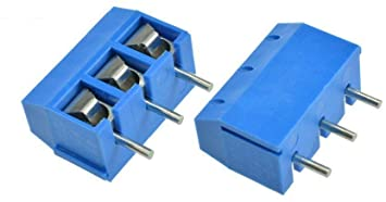 Screw Terminal Block- 5mm Pitch 3Pole PCB Mount( Wire Socket )