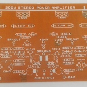 200W Stereo Power Amplifier PCB (24V Dual)