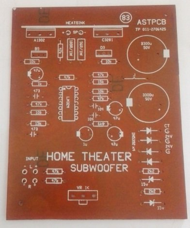Home Theater Subwoofer PCB (24V Dual)