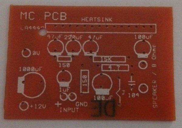 LA4440 Mono Amplifier (Small) PCB (12VDC)