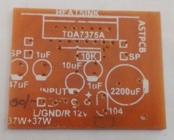 TDA 7375A 37W + 37W Amplifier (Small) PCB (12VDC)