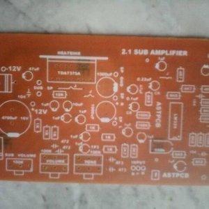 2.1 Subwoofer Amplifier TDA7375A