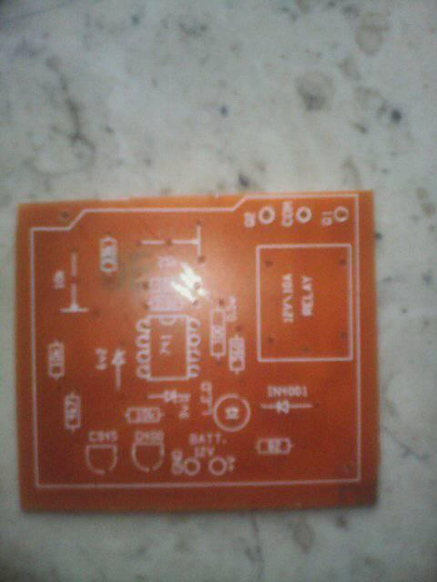 12V Battery Overcharge controller (Cut off) PCB