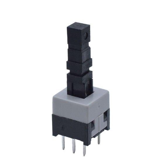 6 Pin push On/Off Self lock DPDT switch 8x8mm