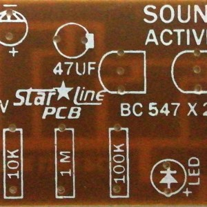 Sound Activate Circuit (9V) PCB