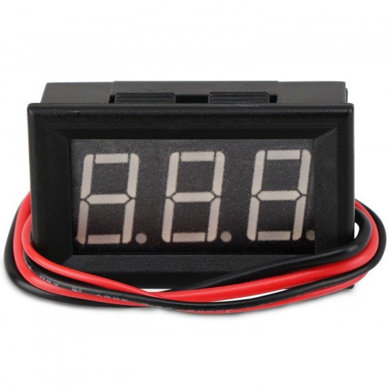 DC 0~10A Ammeter/Ampere Meter Red Led Display Digital Current Meter DC 12V 24V Panel