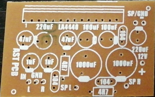 LA4440 Stereo Amplifier 10W+10W Without Pre-Amp (Small) PCB (12VDC)