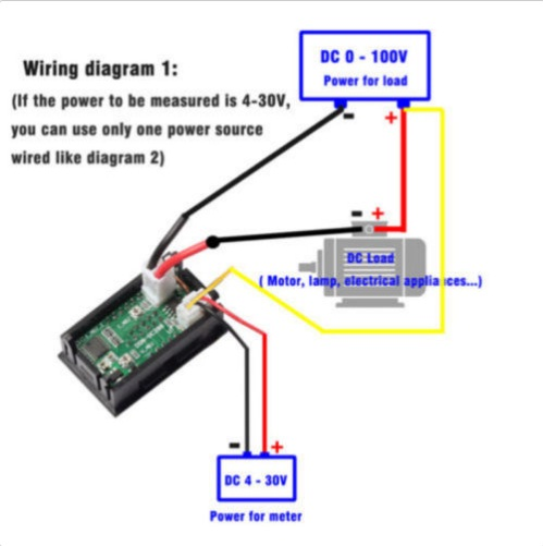 50A DC Volt ammeter (Current Meter) / 0V-100VDC and 0A – 50A DC with Shunt