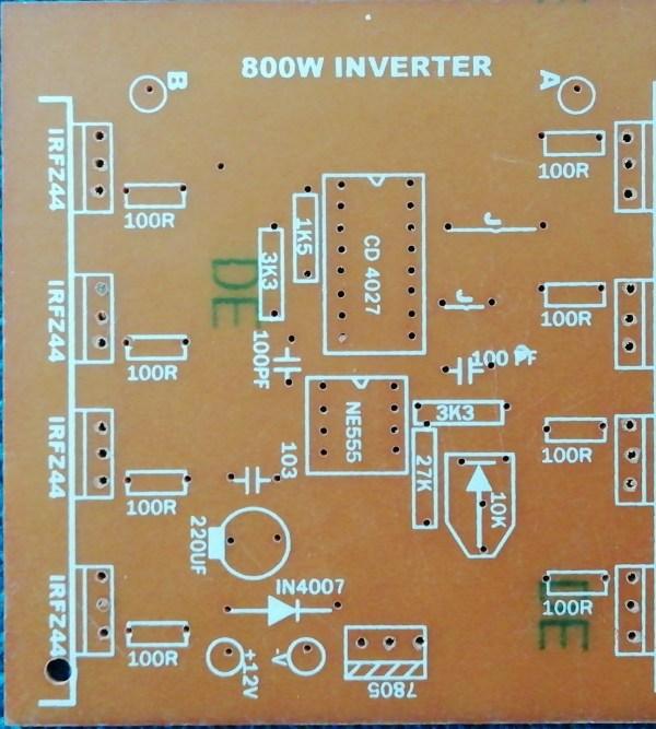 800W 12V DC to 230V AC Inverter