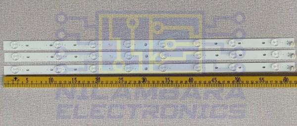 TOSHIBA 8LED Back Light Strips 3PCS Set
