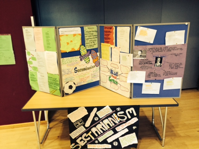 A selection of the art exhibition put together by the pupils