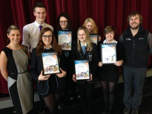 At a ceremony in St Andrew's Academy the six pupils were presented with Saltire Awards, signed by Deputy First Minister John Swinney, in recognition of their hundreds of hours of volunteering time.