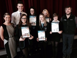 The Pupils received their awards at a ceremony at St Andrew's Academy.