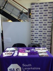 Promotional stall at SLC, East Kilbride