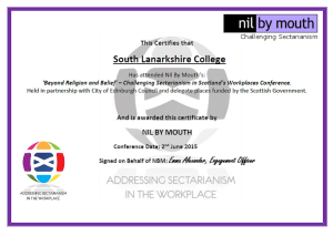 SLC attended the 1st ever national conference aimed at tackling sectarianism
