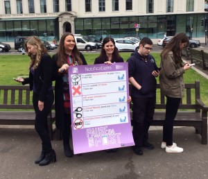 City of Glasgow College Students remind us that posting on the internet isn't as private as people think and can easily become a public matter