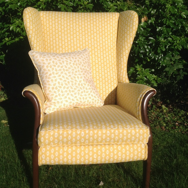 Parker Knoll Chair reupholstered in Macita  Nile and York