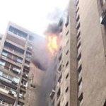 حريق هائل بعمارات العبور بصلاح سالم والدفع بـ 10 سيارة إطفاء