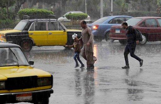 توقعات بسقوط أمطار على محافظات الدلتا والأسكندرية