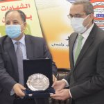 وزير المالية يكرم مؤمن مختار على هامش  افتتاح مقر معهد التأمين فى مصر