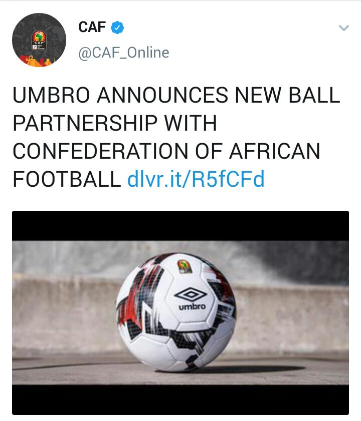 """2f3e88f238b """"As the exclusive ball partner, Umbro will supply the CAF with the  top-level Neo Pro ball. FIFA certified to be used at the highest level of  the game, ..."""