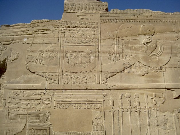 Sacred barque of Amun in the mortuary temple of Seti I in Luxor (photo: Nile Scribes)