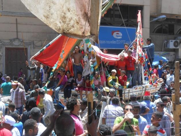Boat procession of Abu al-Haggag (photo: Stephen Ficalora)