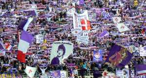 Fiorentina fans and Mohamed Salah