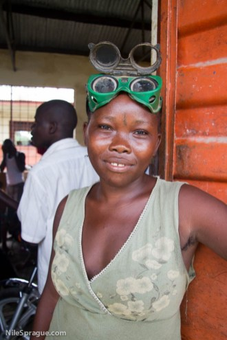 Aminata Conteh, 18, metal worker, Makeni, Sierra Leone. Photo © Nile Sprague