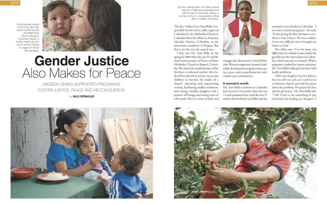 Gender Justice Also Makes for Peace – Colombia – Response magazine, April 2011